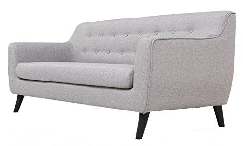 Trendsliving P04017-GRA Sofa, Stoff, hellgrau, 78 x 169 x 73 cm