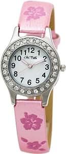 Cactus - CAC-34-L05 - Montre Fille - Quartz Analogique - Bracelet Rose