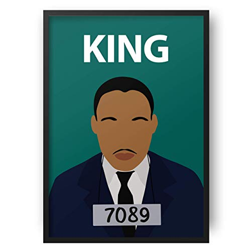Martin Luther King Poster / / MLK - Wandkunst - Portrait - Retro-Kunst - bunt - minimalistisch - Wohnheim Dekor - Black Lives Matter - Black History - Classroom (Poster Mlk)