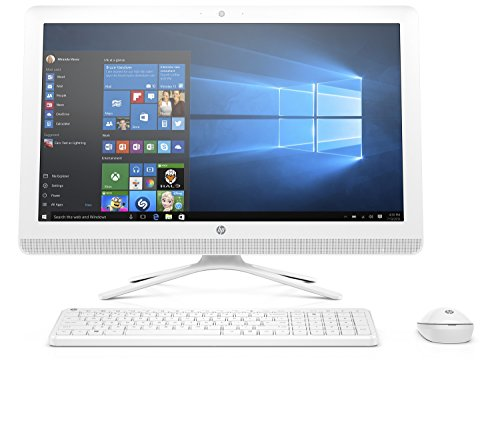 [Ancien Modèle] HP 24-g011nf PC de bureau Tout-en-Un 24' Full HD Blanc (Intel Core i3, 4 Go de RAM, 1 To, Intel HD 520, Windows 10)