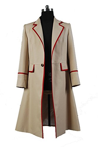 Doctor Who Red Stripe Beige Coat Cosplay Kostüm Herren (Doctor Kostüm Who Zehn)