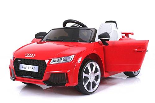 Audi TT RS, Rojo, Licencia Original, Batería accionada, Puertas de la Abertura, Asiento de Cuero, Motor 2X, Batería de 12 V, 2.4 GHz teledirigido, Ruedas Suaves de EVA, Arranque Suave