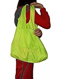 Green : Lifelj Reusable Grocery Shopping Bag Tote Bag Folding Travel Recycle Bag Ripstop Nylon Tote Bag Foldable...