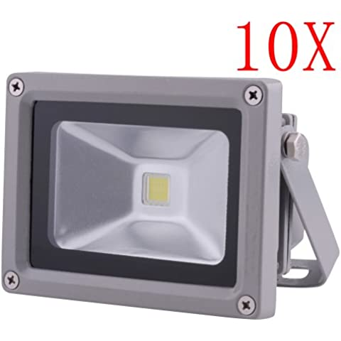 10W LED de luz de inundación impermeable del reflector del paisaje Iluminación de la lámpara 85-265V blanco frío