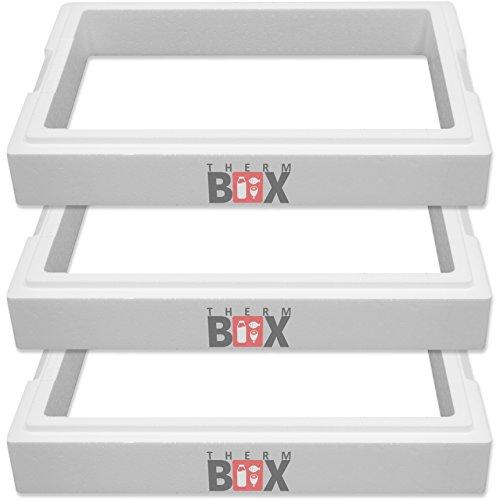 THERM-BOX Modul 3X Zusatzring 11M | Innen: 49x30x8cm | Wand:4,0 cm | Volumen: 11,9L | Isolierbox Thermobox Kühlbox Warmhaltebox