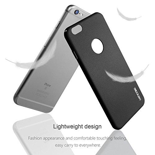 """Für iphone 6 Plus Hülle , ivencase Prämie Hoch Qualität Ultra Slim Scrub PC [Vollrand Schutz] Hart Schutzhülle für Apple iphone 6s Plus (5.5 """") Rose Schwarz"""