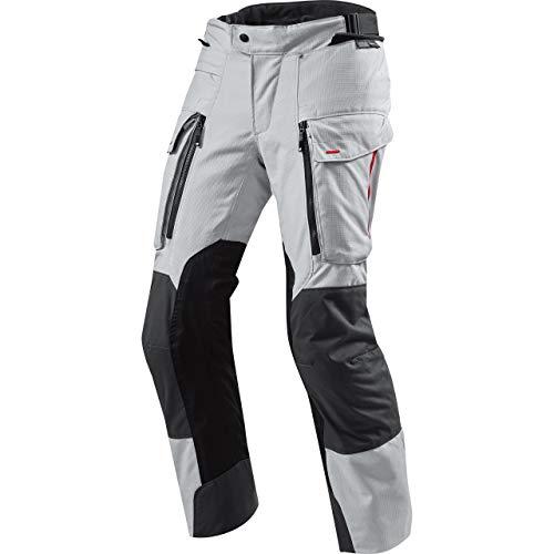REV'IT! Motorradschutzhose, Motorradhose, Bikerhose Sand 3 Textilhose Silber/anthrazit 4XL, Herren, Enduro/Reiseenduro, Ganzjährig