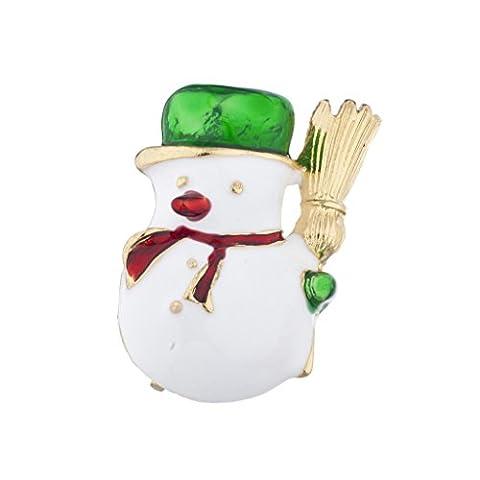 LUX Zubehör Gold Ton Weihnachten X-mas Urlaub Schneemann Brosche