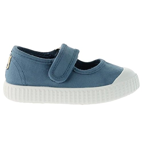 Victoria Mercedes Velcro Lona Tinta, Baskets mode fille Bleu
