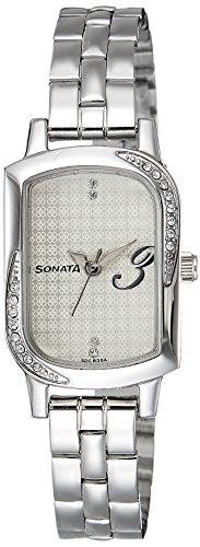 Sonata Analog Silver Dial Women's Watch - NG87001SM01A image