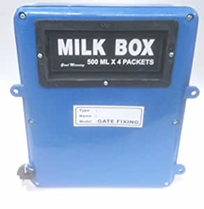 Gate Fixing Type Milk / Post Box with Rear Opening Door with Lock