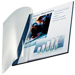 Leitz 74140035 Buchbindemappe impressBIND, Soft Cover, A4, 10,5 mm, 10 Stück, blau