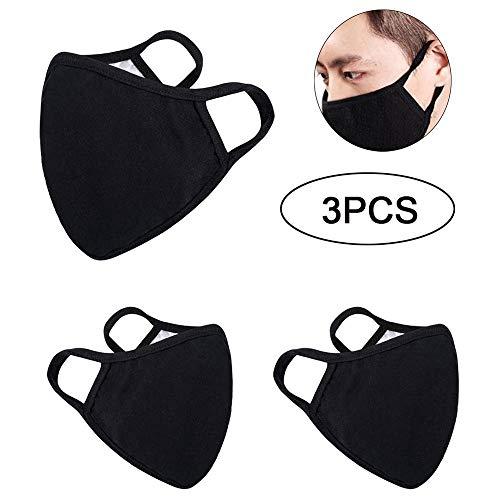 dbare Anti-Staub-Mundschutzmasken aus Baumwolle für Mann und Frau (3 pcs) ()