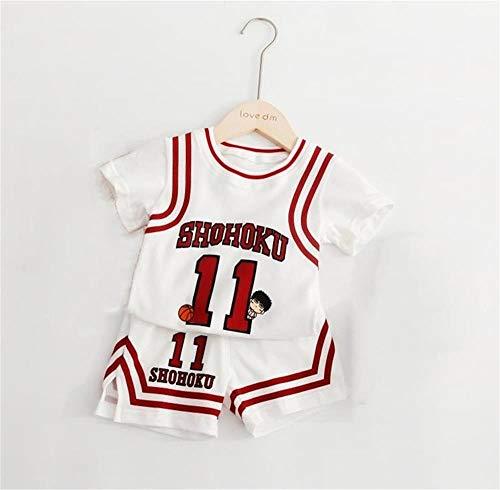HANGESS Sport Baby Kids Set Trikot - Lakers Kobe # 24 / Bulls Jordan # 23 / New Jersey Team Trikots - Celtics # 11 / Warriors # 30# / Basketballfans Für Jungen Und Mädchen
