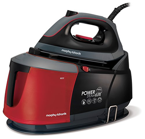 Morphy Richards 332013 Power Steam Elite Steam Generator with Auto Clean and Safety Lock - Red/Black Best Price and Cheapest