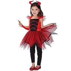 Inception Pro Infinite Talla XL - 7 - 8 años - Disfraz - Disfraz - Carnaval - Halloween - Diablo - Demonio - Infernal - Rojo - Niña