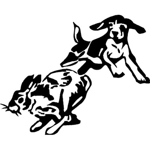 GBUIHZK Wandaufkleber 14,9 cm * 12 cm Vinyl Aufkleber-Beagle Chase Rabbit Dog Puppy Jagd Auto Aufkleber -