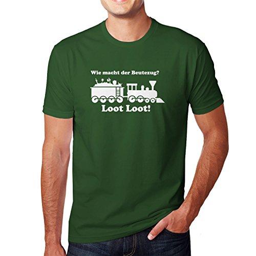 Planet Nerd Beutezug - Herren T-Shirt, Größe L, -