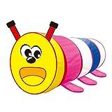 Homyl Tragbare Cartoon Raupe Tunnel Kinder Indoor & Outdoor Spielzeug, Pop-up-Design, 108 * 45 * 45 cm