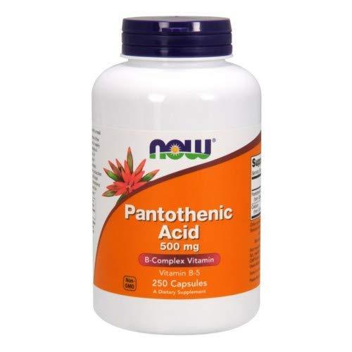Ácido pantoténico, 500 mg, 250 cápsulas - Now Foods