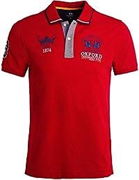 La Martina Herren schmale Passform pique Polo-Shirt von issac Rot