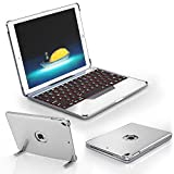 Best Ipad Air Case With Keyboard Bluetooth Backlits - Detachable Keyboard Case Compatible with 2017 & 2018 Review