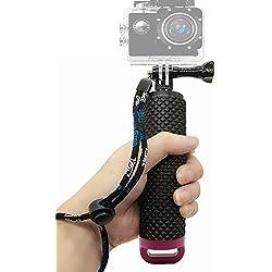 Homeet GoPro Bastone Galleggiante Mano Impermeabile Floating Grip Selfie Palo Galleggianti per GoPro Hero 5/4/3+/3/2/SESSION, per Action Camera Canon/Nikon/Panasonic/Olympus/SJCAM/SONY HDR FDR/Garmin Virb XE/Xiaomi Yi 4K/DBPOWER QUMOX/Akaso/Apeman【Rosso】