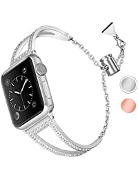 Aottom Kompatibel für Apple Watch Series 5 Armband 40mm Damen Edelstahl,Armband Apple Watch Series 4 40mm Uhrenarmband Armbänder Apple Watch Series 3 38mm Ersatzband iWatch Series 5 40mm Bänder