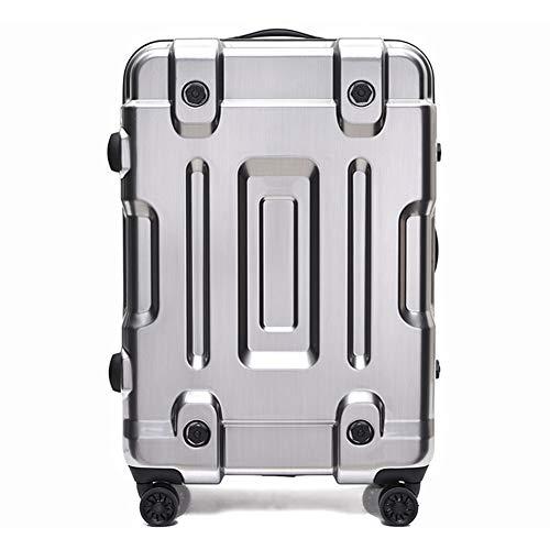 chkeitsgepäck, TSA Customs Password Boarding, Leichtgewicht-Koffer mit großer Kapazität, 360 ° -Universal-Rollwagen, Geschäftsreise-Silver-XL ()