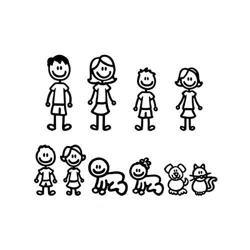 Vinilo adhesivo negro Mi Familia personalizable para decoracion coches, caravanas, motos, exterior...