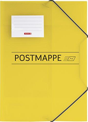 Brunnen 104705410 Sammelmappe / Postmappe (A4, transluzente PP-Folie, mit Gummizug) (Kunststoff-klappe)