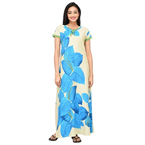 72521e3487 Eazy hm638l Womens Hosiery Cotton Nighty Full Gown Sleepwear Soft Ladies-  Price in India