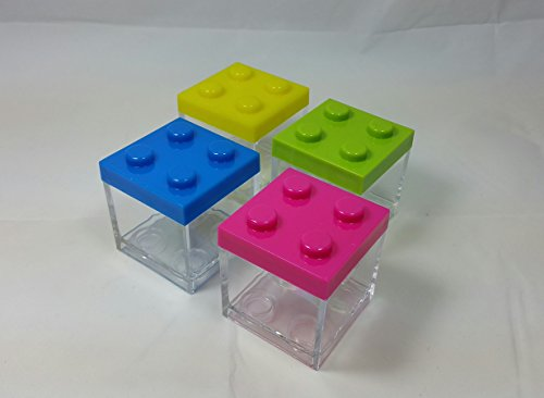 12 pz scatola plexiglass portaconfetti lego multicolore bomboniera