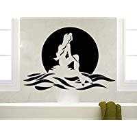 Home Decor Removable Vinyl Mermaid Wall Sticker Bathroom Decoration Sea Ocean Style Wall Decals Baby Nursery Room Decor 42x29cm