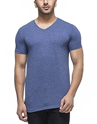 Tinted Men's Rayon V-Neck T-Shirt TJ101RH-RBLUE-M