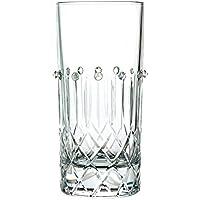 """Bicchiere Long Drink in cristallo cl 36 con LAVORAZIONE ARTIGIANALE """"BRILLANTE SW"""" – Set 2 pezzi"""