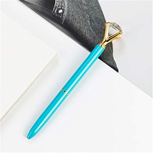 6 Diamant Stift Schönheit Metall Kugelschreiber, kreatives Geschenk, geeignet für Frauen, Kollegen, Gastgeberin und Freundin 13,9 * 1 cm (1,0 mm) - Pro Schönheit Mini Blender