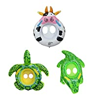 chiwanji 3Pcs Kids Swimming Ring Pool Floats for Toddlers Baby Fashion Swimming Ring Green Is Striking And Cute