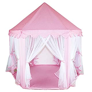 MultiWare Deluxe Kids Princess Castle Play House, Great Gift for Girls Boys Hexagon Play Tent Pink
