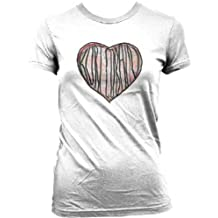 Nirvana Kurt Cobain Distressed Heart Juniors T-Shirt