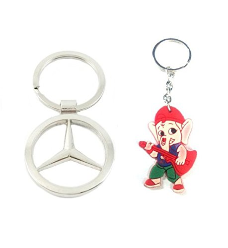 Parrk Full Mercedes Benz Elegant Metal With Bal Ganesh Key Chain  available at amazon for Rs.159
