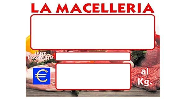 30 SEGNAPREZZI PLASTIFICATI MACELLERIA 83X113MM