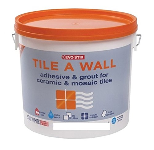 Evo-Stik Tile a Wall Adhesive & Grout for Ceramic & Mosaic Tiles 1 Litre EVO416512