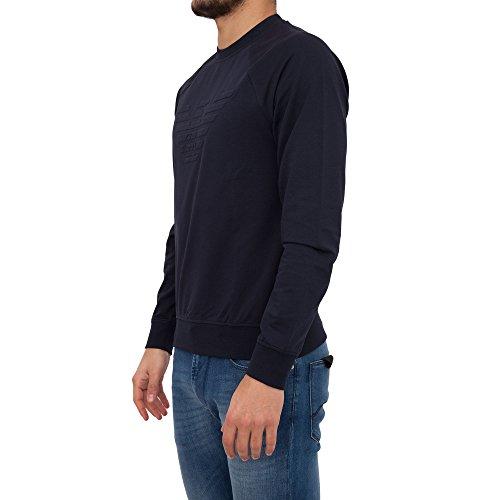 Emporio Armani felpa uomo originale bianco Blu