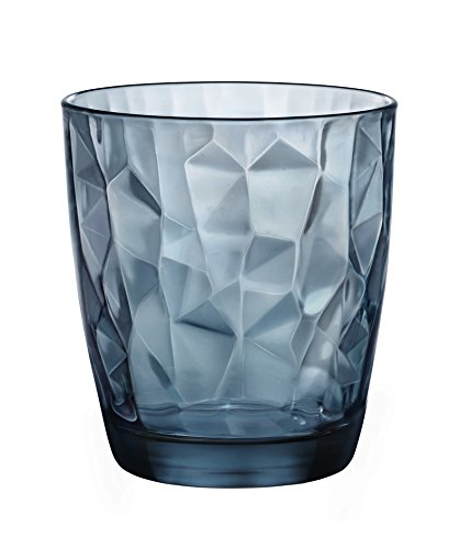 Cl Wasser (Bormioli Rocco Set 6Gläser, Diamond, Wasser, 30,5 cl. blau)