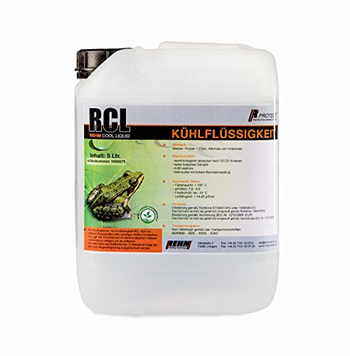 REHM RCL Kühlflüssigkeit für Schweißgeräte im 5 Liter Kanister - (-15°C) Hochleistungskühlmittel, biologisch abbaubar, kein Gefahrgut oder Gefahrstoff