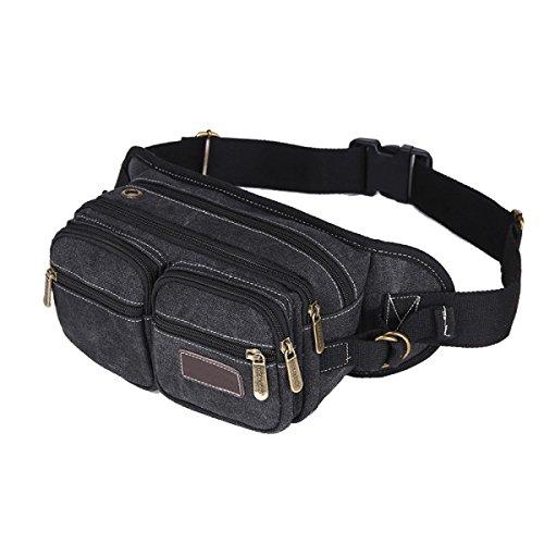 Herrenmode Multifunktionstaschen Multicolor Black