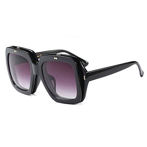 Übergroße Damen-Sonnenbrille Square Flip-up-Outdoor-Sportbrille mit UV400-Schutz (Color : White)
