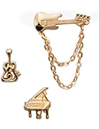 Knighthood Set Of Music Instruments Laple Pin Set/Shirt Stud