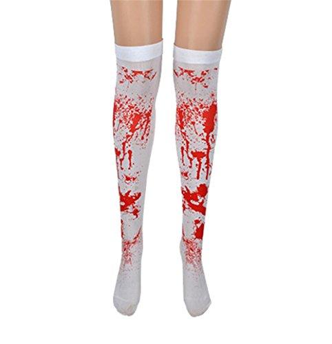 Parigine bianche con macchie di sangue per halloween